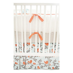 Feather Your Nest In Aqua Crib Baby Bedding Set 4 Piece Set - Feather Your Nest in Aqua 2 piece Crib Bedding Set