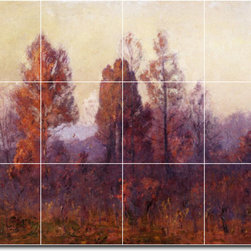 Picture-Tiles, LLC - Last Hour Of The Day Tile Mural By Theodore Steele - * MURAL SIZE: 12.75x17 inch tile mural using (12) 4.25x4.25 ceramic tiles-satin finish.