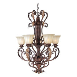 Maxim Lighting - Maxim Lighting 13565CFAF Augusta 5-Light Chandelier In Auburn Florentine - Features