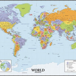 Traditional wall decals find wall stickers and vinyl wall for Dry erase world map wall mural