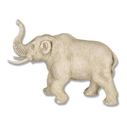 Orlandi Statuary - Aurora Elephant Garden Statue Multicolor - F6684AURORAMASTSMALL - Shop for Statues and Sculptures from Hayneedle.com! The wooly Aurora Elephant Garden Statue adds personality to any outdoors area. This statue brilliantly captures the trumpeting prehistoric elephant in lifelike detail. The elephant's skin is hand-carved and highly intricate and the trunk is wrinkled with a lifelike realism. This statue is crafted in strong cast fiberglass resin and is designed to withstand years of elemental exposure. Highlighted with a detail-enhancing finish this statue will perfectly blend with your outdoor setting.About Orlandi StatuaryBorn in 1911 when Egisto Orlandi traveled from Lucca Italy to Chicago Illinois Orlandi Statuary quickly set the standard for excellence in their industry. Egisto took great pride in his craft and reputation and which is why artists interior designers and museums relied upon the careful details and impeccable quality he demanded. Over the years they've evolved into a company supplying more than statuary. Orlandi's many collections today include fiber stone for the garden religious statuary fountains columns and pedestals. Their factory and showroom are still proudly located in Chicago where after 100 years they remain an industry icon.