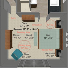 Contemporary Floor Plan by Steven Corley Randel, Architect