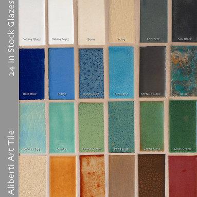 Aliberti Art Tile's 24 available glazes -