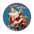 Past Time Signs - Tis The Season Metal Sign 28 x 28 inches - - Width: 28 Inches