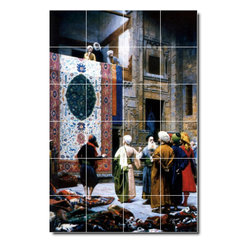 Picture-Tiles, LLC - The Carpet Merchant Tile Mural By Lawrence Alma-Tadema - * MURAL SIZE: 36x24 inch tile mural using (24) 6x6 ceramic tiles-satin finish.