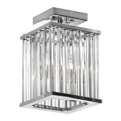 Dainolite - Dainolite ARU-82FH-PC 2LT Crystal Flush Mount FixtureAruba Collection - 2 Light Crystal Flush Mount Fixture Polished Chrome Finish