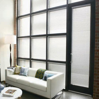 """1"""" Select Levolor Aluminum Blinds - The heavy duty, durable 8-gauge aluminum slats are offered in a wide variety of colors, and provide maximum strength by featuring a heavy-duty line of stamped metal components that are clinched in place within the headrail channel."""