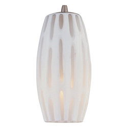 ET2 - ET2 Frosted Translucent 1-Light RapidJack Pendant - Experience the slow curves and delicate dapple dawn dalliance of this contemporary wall pendant. The frosted translucent shade provides a delicate glow that looks awesome in your living room, kitchen, or dining room. The satin nickel finish gleams with durability and quality.