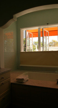 P&D Window Fashions - P&D Window Fashions - Our bottom up roller shades meet privacy needs to windows where top mounted window coverings cannot.