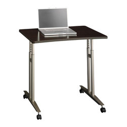 Bush - Bush Series C Adjustable Height Mobile Table in Mocha Cherry - Bush - Mobile Laptop Carts - WC12982 - From private offices to workstations, Series C gives you the flexibility to design your workspace in the way that best suits your working style.