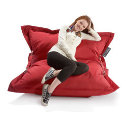 None - Strapping Big Hug Eco Friendly Red Bean Bag Chair - The Strapping Big Hug is the ideal outdoor bean bag chair. Featuring straps that create a comfortable seat, the Strapping Big Hug is perfect to snuggle into, lay back and watch the world go by.
