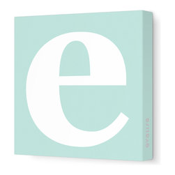 "Avalisa - Letter - Lower Case 'e' Stretched Wall Art, 12"" x 12"", Sea Green - Spell it out loud. These lowercase letters on stretched canvas would look wonderful in a nursery touting your little one's name, but don't stop there; they could work most anywhere in the home you'd like to add some playful text to the walls. Mix and match colors for a truly fun feel or stick to one color for a more uniform look."