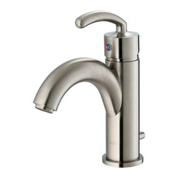Vigo - Vigo Single Lever Brushed Nickel Finish Faucet - This arc-shaped Vigo faucet will make a statement in your bathroom. Vigo's standards for quality and style are unmatched.