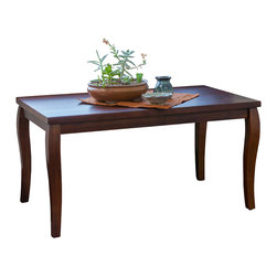 Great Deal Furniture - Stanford Mahogany Wood Coffee Table, Brown - The Stanford coffee table is an elegant piece that is perfect for the traditional home. Built from mahogany stained hardwood, it stands on curved contemporary legs for a classic touch. This piece is perfect for your living room, family room or office.