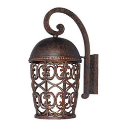 "Designer Fountain - Amherst-DS 10"" Wall Lantern-DS - 10 inches Wall Lantern Dark Sky"