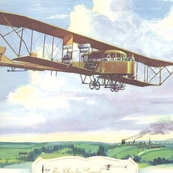 """Buyenlarge.com, Inc. - The Sikorsky Grand, 1913- Gallery Wrapped Canvas Art 12"""" x 18"""" - Biplanes or planes with Double sets of Wings during the period of early aviation"""