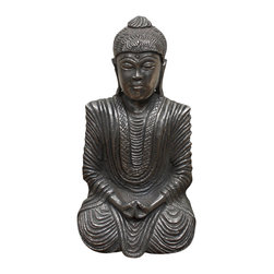 Habitat Home & Garden - Brass Buddha - The Brass Buddha is a zen lover's dream. Boasting a polished brass finish and pristine detail, the Brass Buddha can function as a statement piece on a scholar's desk or a means to find direction in a meditation space. Whatever purpose it may serve, it will be an interior accent that people will be guaranteed to talk about.