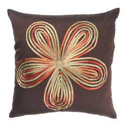 Rizzy Home - Brown and Red Decorative Accent Pillows (Set of 2) - T02333 - Set of 2 Pillows.