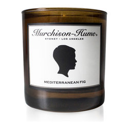 Murchison-Hume - Murchison-Hume Signature Candle - Mediterranean Fig - We proudly offercandles, hand-poured in Los Angeles and feature a soy blend clean burn wax.  Our fragrances are free from phthalates, sulphates and parabens.  Our Mediterranean Fig is dark and sweet with earthy bottom notes.