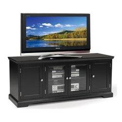 Black Hardwood 60-inch TV Stand -