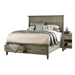 Legacy Classic - Legacy Classic Brownstone Village California King Panel Bed with Storage Footboa - Legacy Classic Brownstone Village California King Panel Bed with Storage Footboard