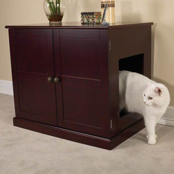 Pet Studio - Pet Studio Mahogany Litter Box Cabinet - This is such a great solution for hiding the litter box in plain sight. And the traditional-style cabinet is pretty in it's own right.