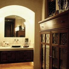 Mediterranean Powder Room by ZS Interior Design