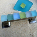 Beach Glass Knobs & Robe Hooks - Beach Glass Drawer Pull