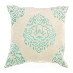 Jaipur - Wanderer Pillow, Quartz & Marine-pair of 2 - Funky range of pillows in poly dupione use rich jewel tones expressed in a highly textural and fun way. Perfect for a touch of retro glamour in your home.