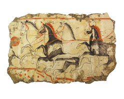 Horse Painting - Our newest  Roman Fresco… 340-330 BC Campania Italy.