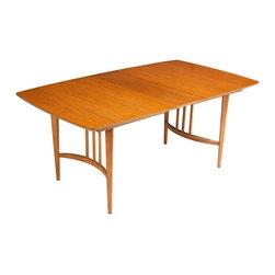 Unrbanded - Consigned Mid Century Danish Modern Light Walnut Surfboard Dining Table - • Mid Century | Danish Modern