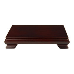Oriental Unlimted - Solid Rosewood Rectangular Stand (Extra Small - Choose Size: Extra SmallNo assembly required. Extra small: 5 in. W x 3 in. H. Medium: 7 in. W x 5 in. H