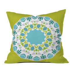 Karen Harris Mod Medallion Green Outdoor Throw Pillow - Do you hear that noise? it's your outdoor area begging for a facelift and what better way to turn up the chic than with our outdoor throw pillow collection? Made from water and mildew proof woven polyester, our indoor/outdoor throw pillow is the perfect way to add some vibrance and character to your boring outdoor furniture while giving the rain a run for its money.