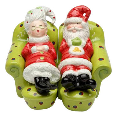ATD - 2.88 Inch Santa Claus and Mrs. Claus Resting Salt and Pepper Shakers - This gorgeous 2.88 Inch Santa Claus and Mrs. Claus Resting Salt and Pepper Shakers has the finest details and highest quality you will find anywhere! 2.88 Inch Santa Claus and Mrs. Claus Resting Salt and Pepper Shakers is truly remarkable.