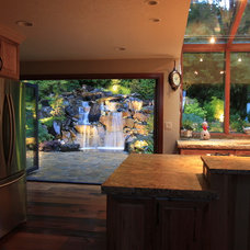 Contemporary Kitchen by Alderwood Landscape Architecture and Construction