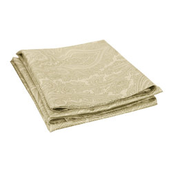"Cotton Rich 600 Thread Count Italian Paisley Standard Pillowcase Set - Sage - These pillowcases are constructed from a special blend of cotton and polyester. They feature a magnificent paisley design that adds a sense of style and glamour to any bedroom. Set includes two pillowcases 20""x30""."