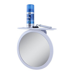 Zadro Products - Zadro Z'Fogless Adjustable Fog-Free Ultra II Shower Mirror - Z508 - Shop for Bathroom Mirrors from Hayneedle.com! Sometimes the simplest technologies look like magic and if we didn't know better we might think the Zadro Z'Fogless Adjustable Fog-Free Ultra II Shower Mirror is some kind of miracle. The simple design of this mirror gives you a fog-free reflecting surface that can be rotated for magnifications from 1X to 5X. Three suction cups will let you mount this mirror anywhere and a caddy shelf and razor holders will keep all your tools right where you can find them.About Zadro ProductsZadro Products has been a leading innovator in bath accessories mirrors cosmetic accessories and health products for over 25 years. Among the company's innovations are the first fogless mirror first variable magnification mirror first surround light mirror and more. Not a company to rest on its laurels Zadro continues to adapt to the ever-changing needs of modern life.