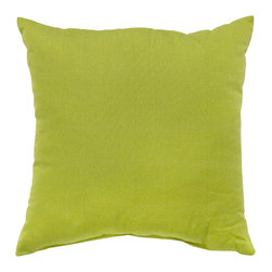 None - Lime Outdoor Accent Pillows (Set of Two) - Add a touch of contemporary style and comfort to your outdoor furnishings with these accent pillows. These pillows are overstuffed with a soft 100-percent polyester fill and have a durable weather resistant and UV protected cover.