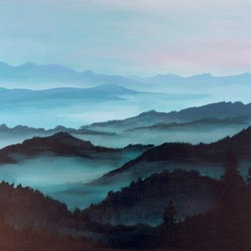 """Appalachian Morning"" (Original) By Andrew Keola - I'Ve Always Been Inspired By The Mountain Sets I'Ve Seen During Sunrise Where The Morning Mist Is Still Present And Gives Depth To The Mountain Ranges."