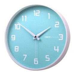 Fruity Blueberry Non-Ticking Silent Wall Clock, Baby Blue - This clock would be perfect in a little kids' room.