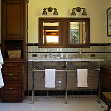 """Masculine and Feminine Bathrooms: """"His"""" and """"Hers"""" Powder Rooms"""