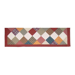 Patch Quilts - Rustic Cabin Curtain Valance 54 x 16 - - Beautiful patchwork Valance.Window Treatments for ensemble and Bedding items from Patch Magic  - Machine washable.Line or Flat dry only Patch Quilts - CVRUSC