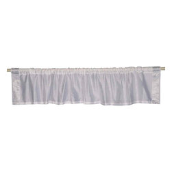 Indian Selections - Pair of White Silver Rod Pocket Top It Off Handmade Sari Valance, 60 X 15 In. - Size of each Valance: 60 Inches wide X 15 Inches drop. Sizing Note: The valance has a seam in the middle to allow for the wider length