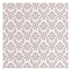 Graham & Brown - Damask Grey Wallpaper - A superb damask wallpaper design that will add a touch of elegance to your home.