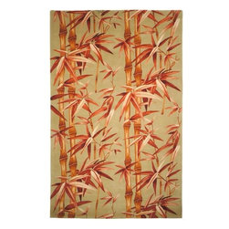 Safavieh - Safavieh Mandarin MD403A 4' x 6' Sage, Rust Rug - The rugs in the Mandarin Collection are hand-tufted of 100% New Zealand wool to bring out the clean colors and pure look of the far east. Designs feel casual with a tropical flavor which can start a theme in any room in which you can build around.