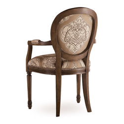 Hooker Furniture - Hooker Furniture Melange Chelsea Accent Arm Chair 641-36001 - Come closer to Melange, and you will discover something unexpected, an eclectic blending of colors, textures and materials in a vibrant collection of one-of-a-kind artistic pieces.