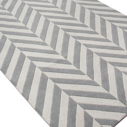 Jaipur Rugs - Hand-Tufted Looped & Cut Wool Ivory/Gray Area Rug - An urban contemporary styled rug collection that updates your living area with bold patterns.  Ranging from soft neutrals to strong colors these rugs could live in any home. Origin: India