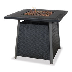 UniFlame - UniFlame GAD1325SP LP Gas Outdoor Firebowl w/ Steel Mantel - 30,000 BTUs