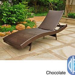International Caravan - International Caravan Barcelona Resin Wicker/Aluminum Outdoor Multi-position Cha - Rest, read, tan, or simply lounge away the day in comfort on the Barcelona 5-position chaise lounge. Made with UV and Weather-resistant hand-woven resin wicker, this chaise lounge is built on a sturdy aluminum frame.