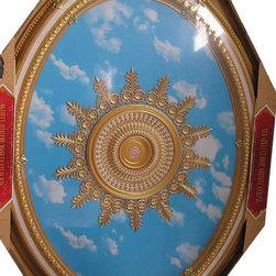 uDecor - BRRB-1722-S031 Michelangelo Medallion - Michelangelo Ornate Medallions